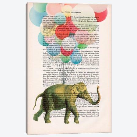 Elephant With Balloons Canvas Print #COC95} by Coco de Paris Canvas Art