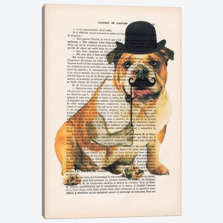 English Bulldog Canvas Print #COC96} by Coco de Paris Canvas Artwork