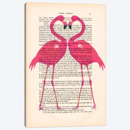 Flamingo Heart Canvas Print #COC97} by Coco de paris Canvas Artwork