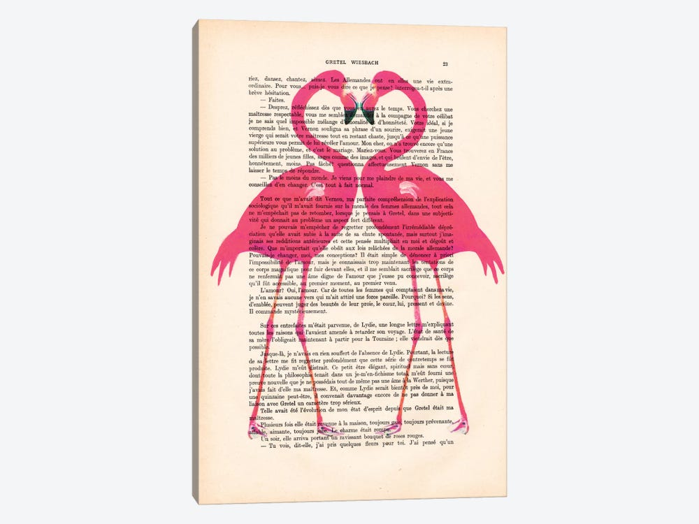 Flamingo Heart by Coco de Paris 1-piece Canvas Art