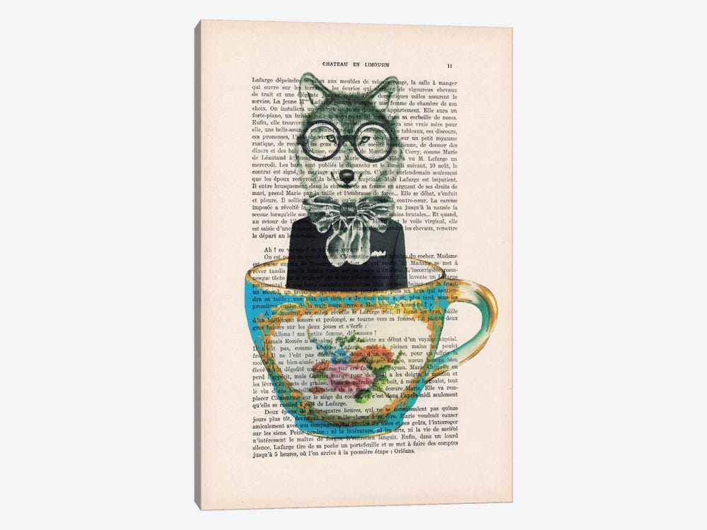 Fox In A Cup by Coco de Paris 1-piece Art Print