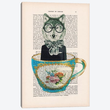 Fox In A Cup Canvas Print #COC98} by Coco de Paris Canvas Art Print
