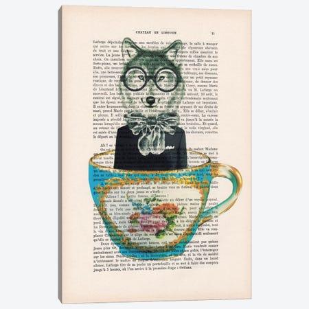 Fox In A Cup Canvas Print #COC98} by Coco de Paris Canvas Art Print