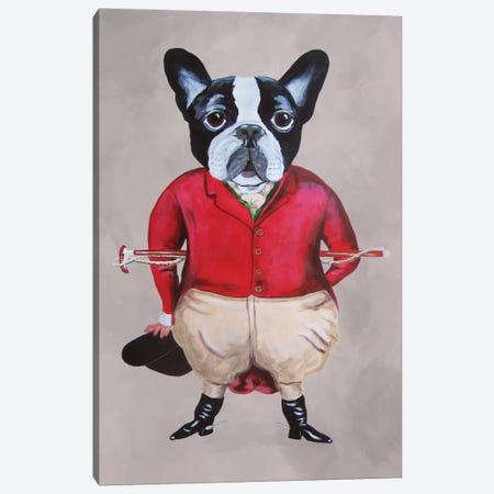 Bulldog Horse Driver Canvas Print #COC9} by Coco de Paris Art Print