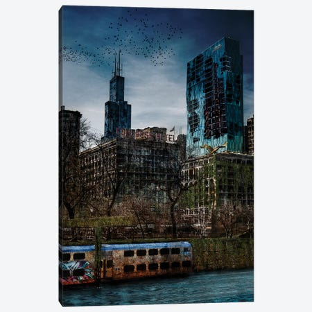 Post Apocalyptic Chicago Canvas Print #COG11} by Matt Coglianese Canvas Print
