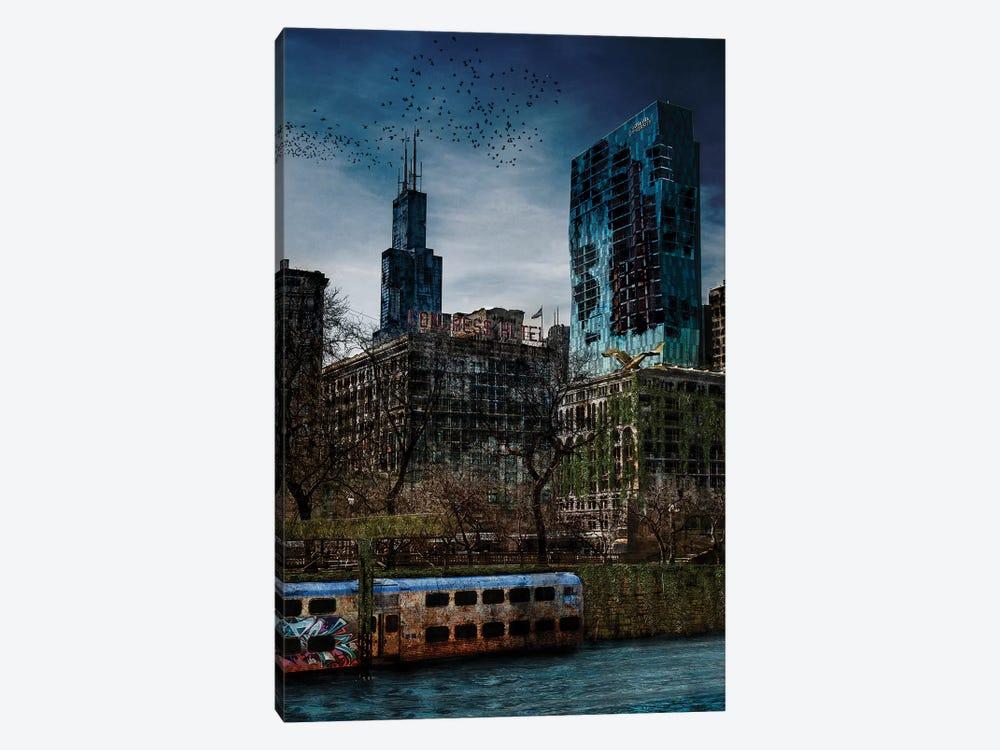 Post Apocalyptic Chicago by Matt Coglianese 1-piece Art Print