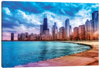 Rainbow Skyline Canvas Art Print