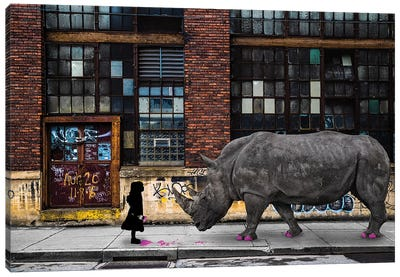 Real Rhinos Wear Pink Canvas Art Print