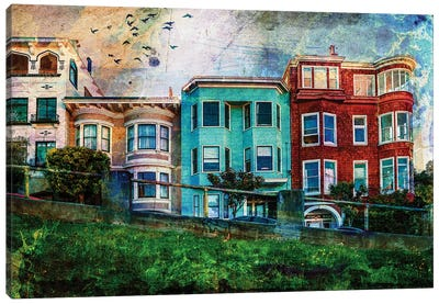 San Francisco Houses Canvas Art Print