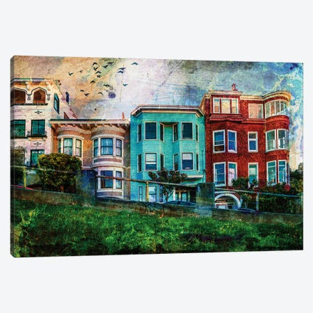 San Francisco Houses Canvas Print #COG15} by Matt Coglianese Canvas Art