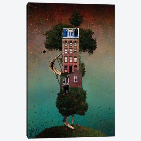 Squapple Tree house Canvas Print #COG16} by Matt Coglianese Canvas Art