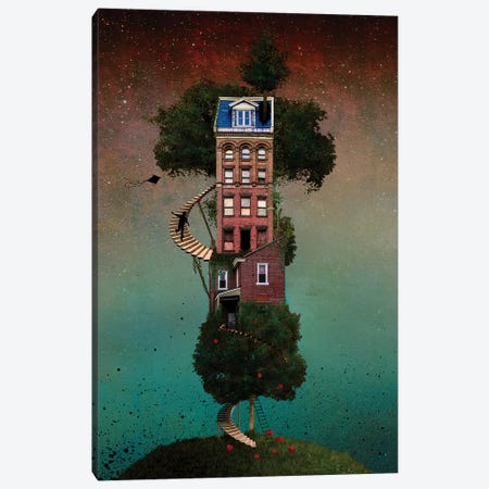 Squapple Tree house Canvas Print #COG16} by Matt Coglianese Canvas Art