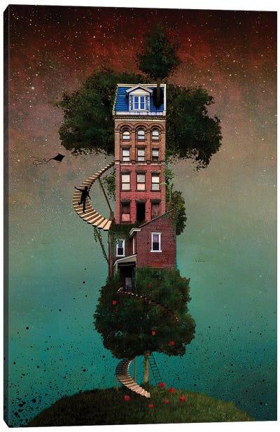 Squapple Tree house Canvas Art Print