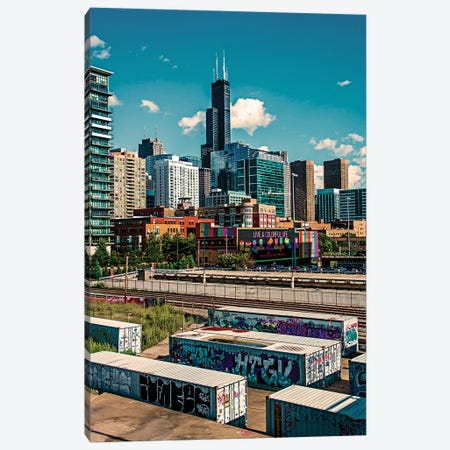 The Graffitti Graveyard Canvas Print #COG19} by Matt Coglianese Art Print