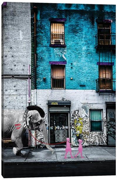 Walking Asia I Canvas Art Print