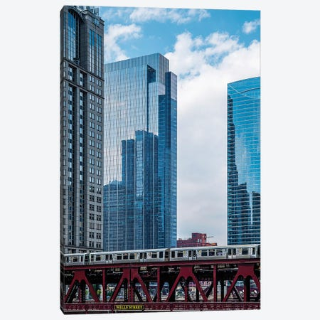 Wells St Bridge Canvas Print #COG26} by Matt Coglianese Art Print