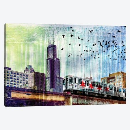 Chiraq Express Line I Canvas Print #COG30} by Matt Coglianese Canvas Print
