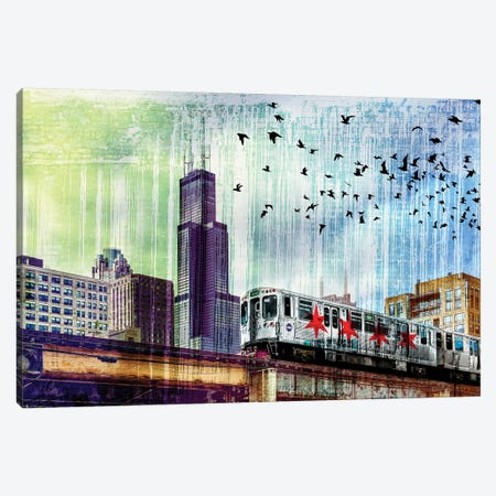 Chiraq Express Line I Canvas Print #COG30} by Matt Coglianese Canvas Print