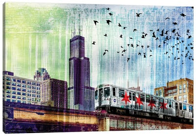 Chiraq Express Line I Canvas Art Print