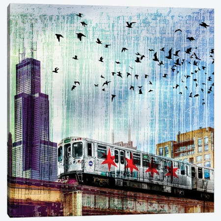Chiraq Express Line II Canvas Print #COG31} by Matt Coglianese Canvas Art Print