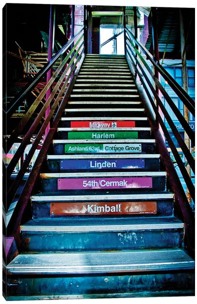 CTA Escalator Canvas Art Print