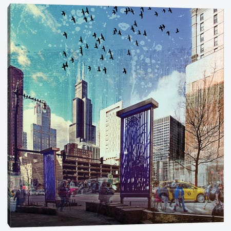 Lockdown in Chicago Canvas Print #COG4} by Matt Coglianese Canvas Wall Art