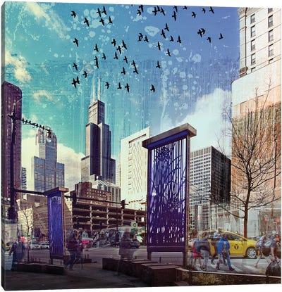 Lockdown in Chicago Canvas Art Print