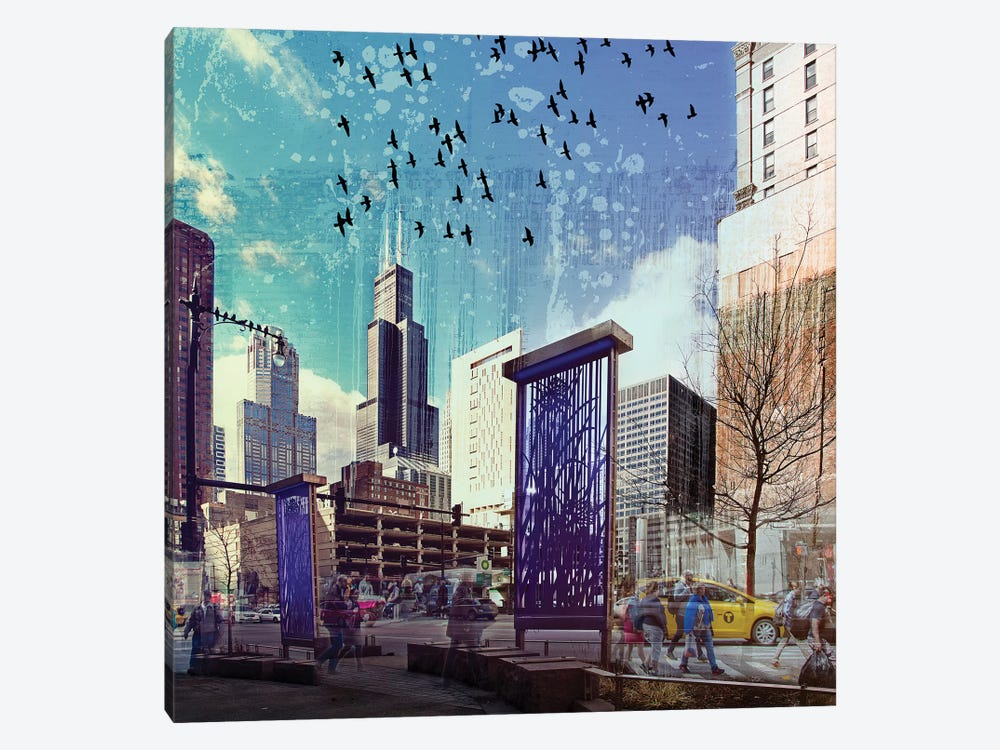 Lockdown in Chicago by Matt Coglianese 1-piece Canvas Artwork