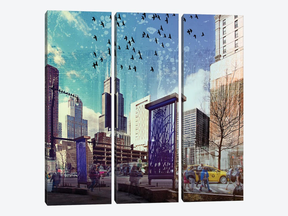 Lockdown in Chicago by Matt Coglianese 3-piece Canvas Art