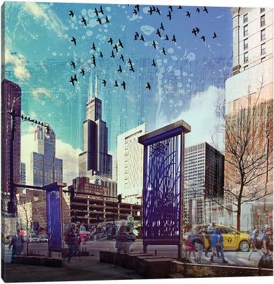Lockdown in Chicago Canvas Art Print
