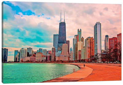 Pastel Skyline Canvas Art Print