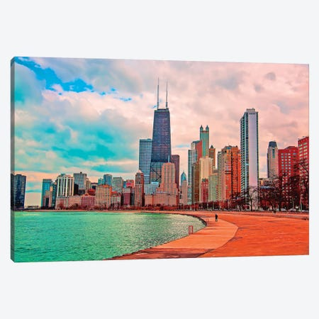 Pastel Skyline Canvas Print #COG9} by Matt Coglianese Art Print