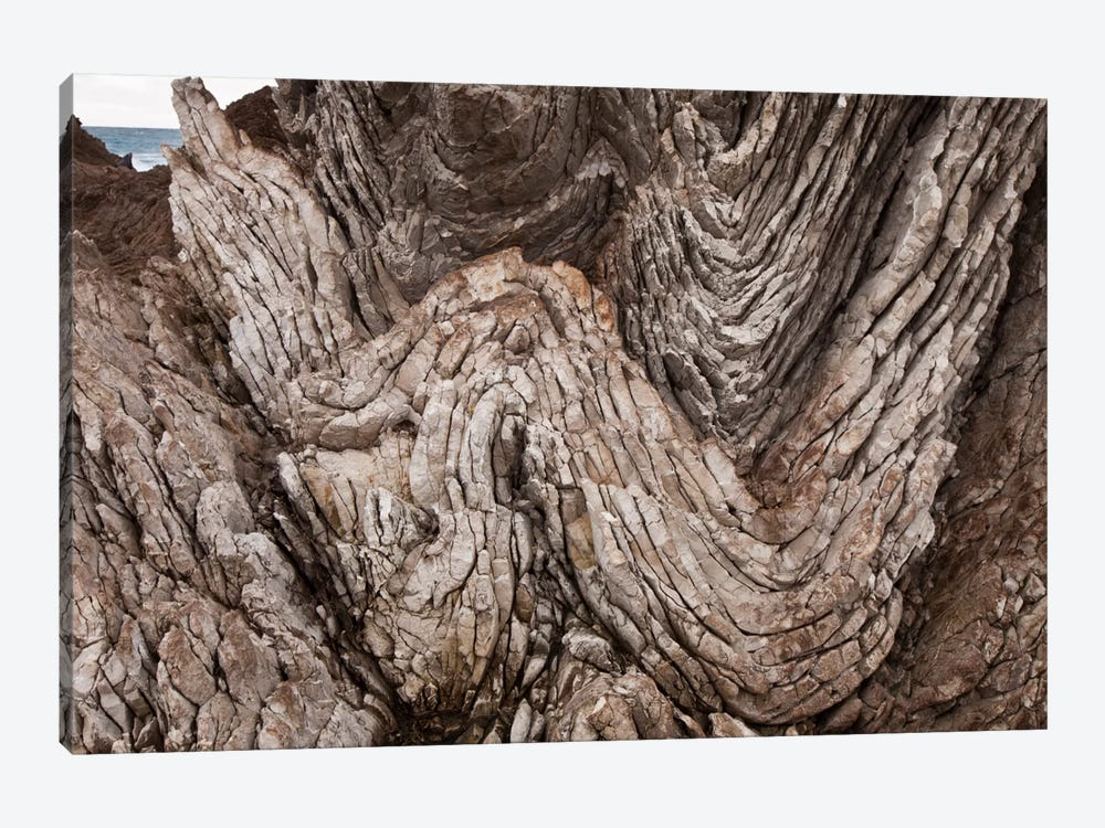 Folded Limestone Layers, Kaikoura, North Canterbury, New Zealand by Colin Monteath 1-piece Canvas Art