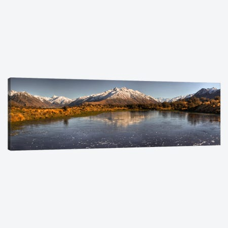 Frozen Tarn Seen From Mt Sunday Near Mt Potts Station, Canterbury, New Zealand Canvas Print #COL18} by Colin Monteath Canvas Artwork