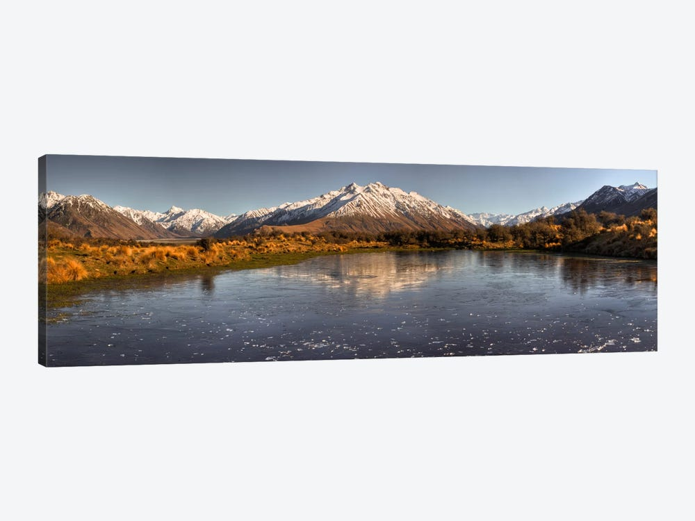 Frozen Tarn Seen From Mt Sunday Near Mt Potts Station, Canterbury, New Zealand by Colin Monteath 1-piece Canvas Print