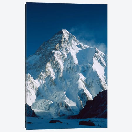 Dawn's Sunlight On K2, Karakoram Mountains, Pakistan Canvas Print #COL23} by Colin Monteath Canvas Print
