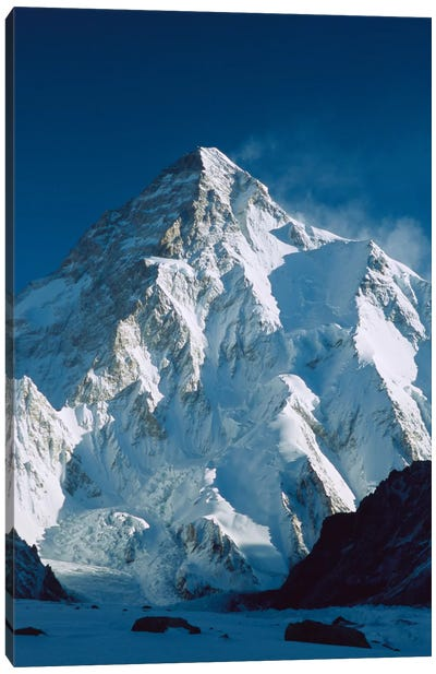 Dawn's Sunlight On K2, Karakoram Mountains, Pakistan Canvas Art Print