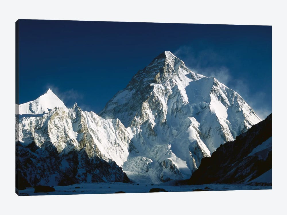 K2 At Dawn Seen From Camp Below Broad Peak, Godwin Austen Glacier, Karakoram Mountains, Pakistan by Colin Monteath 1-piece Canvas Art