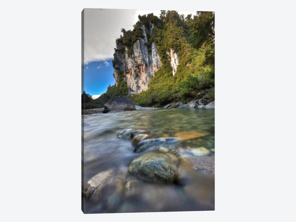 Limestone Cliffs And Fox River, Paparoa National Park, New Zealand by Colin Monteath 1-piece Art Print