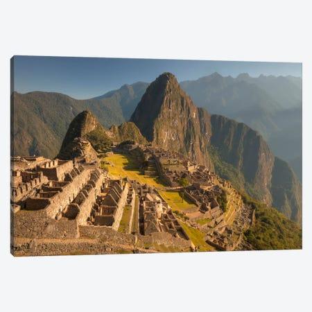 Machu Picchu At Dawn Above Urubamba Valley Near Cuzco, Peru Canvas Print #COL28} by Colin Monteath Canvas Print