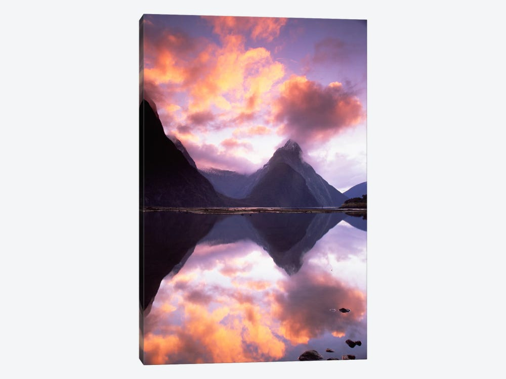 Mitre Peak At Sunset, Milford Sound, Fiordland National Park, New Zealand by Colin Monteath 1-piece Canvas Print