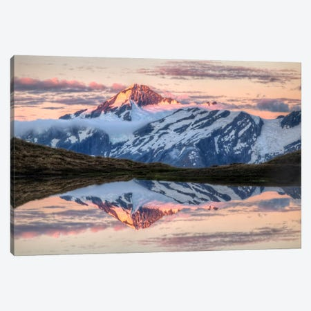 Mount Aspiring, Moonrise Over Cascade Saddle, Mount Aspiring National Park, New Zealand - Horizontal Canvas Print #COL33} by Colin Monteath Canvas Wall Art