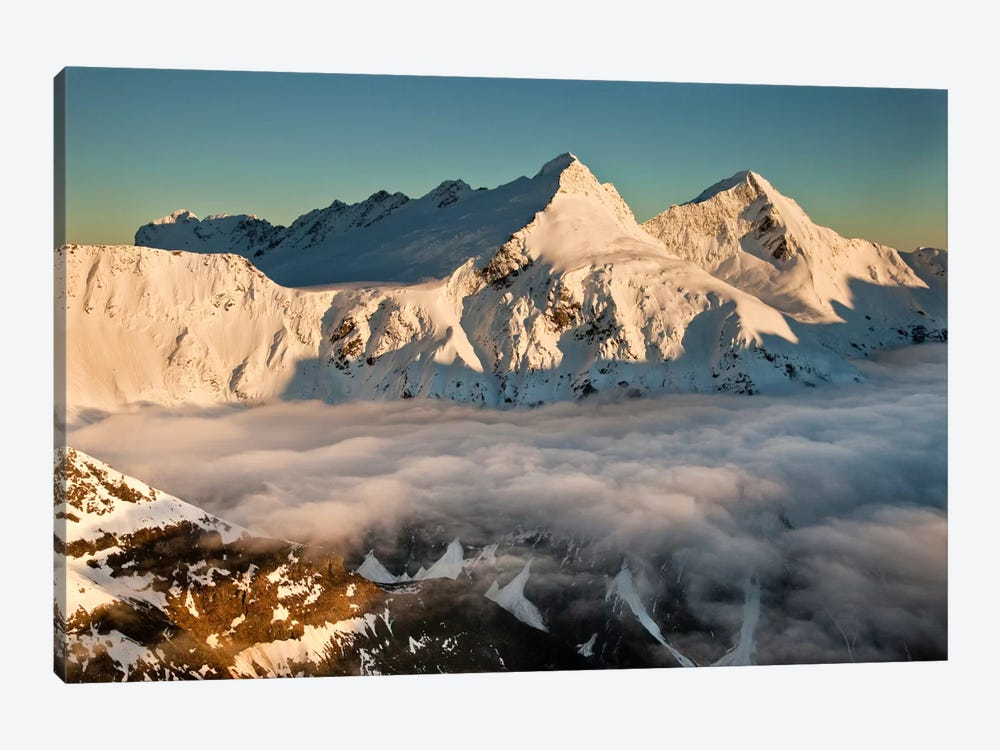 Mount Pollux And Mount Castor At Dawn, Wilkin Valley, Mount Aspiring National Park, New Zealand by Colin Monteath 1-piece Canvas Wall Art