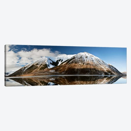 Mountains Reflecting In Lake Pearson In Winter, Castle Hill Basin, Canterbury, New Zealand Canvas Print #COL37} by Colin Monteath Canvas Art Print