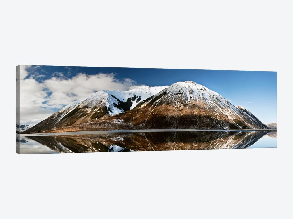 Mountains Reflecting In Lake Pearson In Winter, Castle Hill Basin, Canterbury, New Zealand by Colin Monteath 1-piece Canvas Wall Art