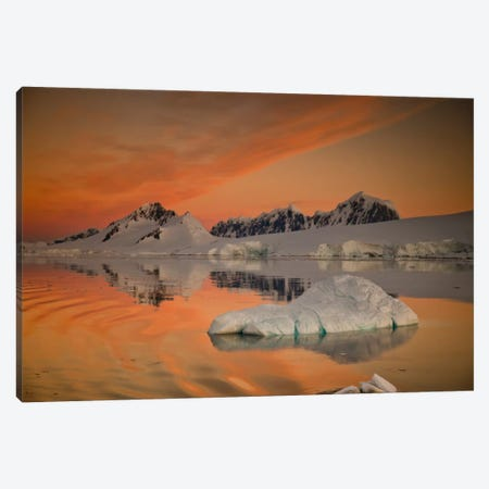 Peaks At Sunset, Wiencke Island, Antarctic Peninsula, Antarctica Canvas Print #COL42} by Colin Monteath Art Print