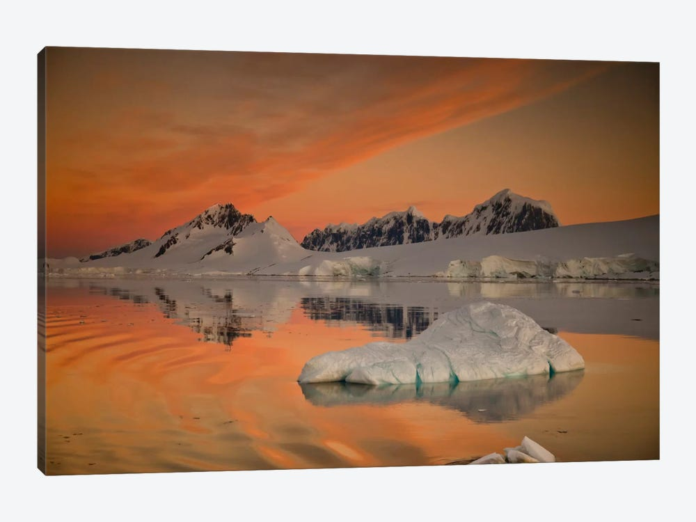 Peaks At Sunset, Wiencke Island, Antarctic Peninsula, Antarctica by Colin Monteath 1-piece Canvas Wall Art
