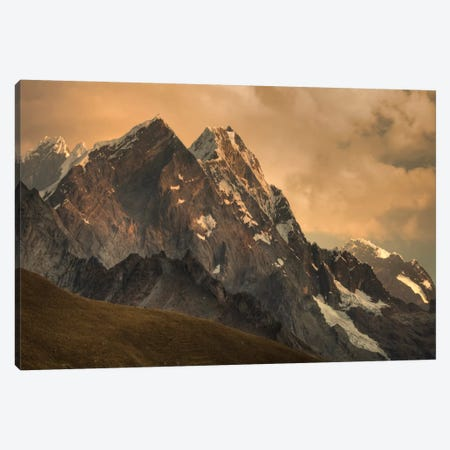 Rondoy Peak, 5870 Meters, At Sunset, Cordillera Huayhuash, Andes, Peru Canvas Print #COL45} by Colin Monteath Canvas Art