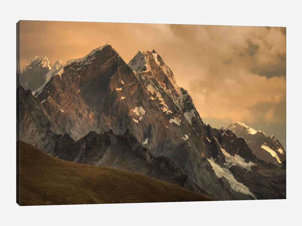 Rondoy Peak, 5870 Meters, At Sunset, Cordillera Huayhuash, Andes, Peru 1-piece Canvas Art Print