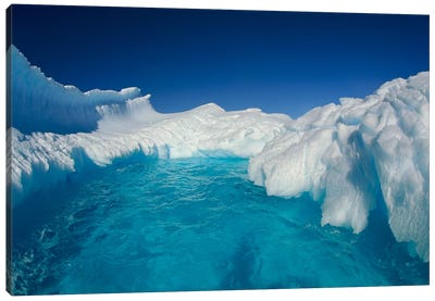 Sculpted Iceberg, Terre Adelie Land, East Antarctica Canvas Art Print